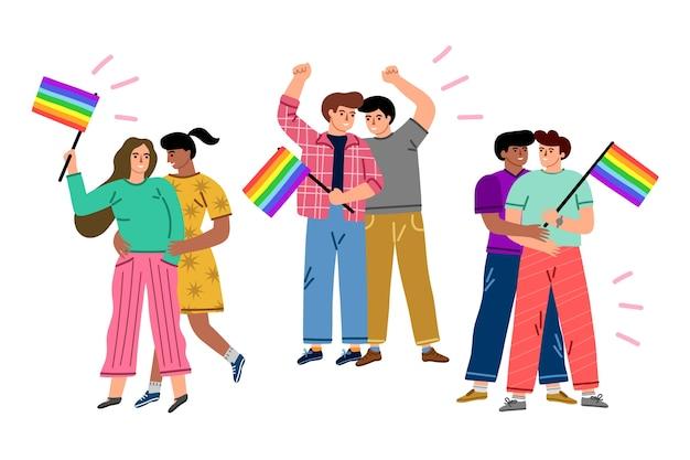 Menschen, die den stolz lieben und feiern
