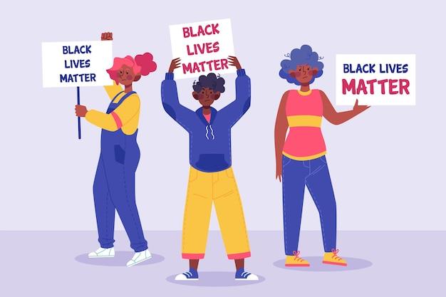 Menschen, die gegen alles leben protestieren, sind wichtig