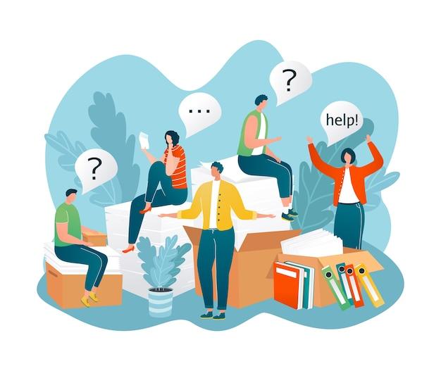 Menschen, die hilfe benötigen, stellten häufig fragen zu fragezeichen
