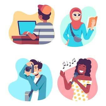 Menschen, die kulturelle aktivitäten gestalten
