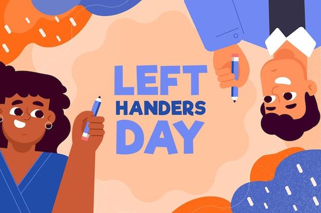 Menschen, die stifte in linken händen tragen