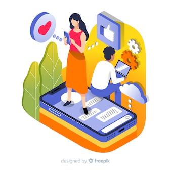 Menschen, die technologische geräte verwenden