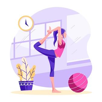 Menschen, die yoga machen