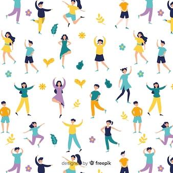 Menschen, die yoga-muster üben