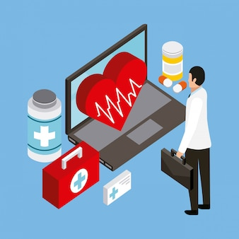 Menschen digitale gesundheit