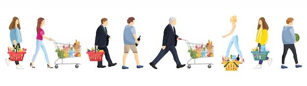 Menschen einkaufen sammlung