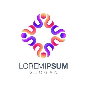 Menschen farbverlauf logo