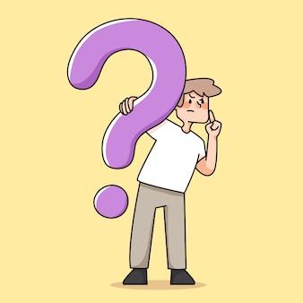 Menschen fragezeichen illustration entscheidungsfindung konzept
