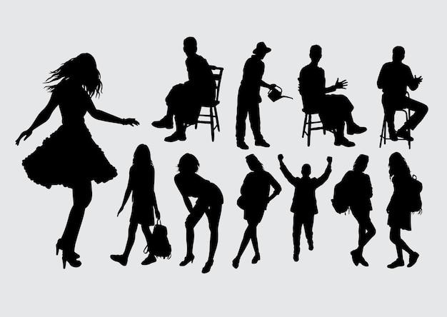Menschen geste silhouette