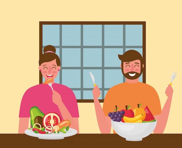 Menschen gesundes essen