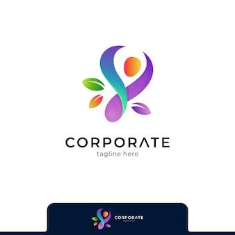 Menschen-gesundheitswesen-logo-vektor-vorlage