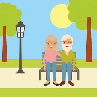 Menschen großeltern zeichen