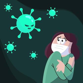 Menschen haben angst vor coronavirus