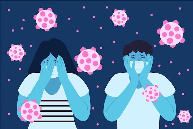 Menschen haben angst vor der coronavirus-krankheit