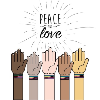 Menschen hand zum frieden weltweite befreiung