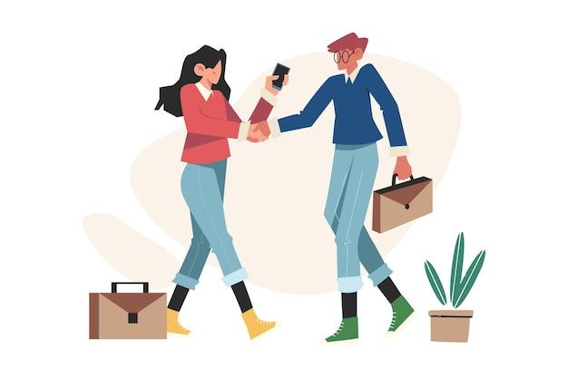 Menschen handschlag vertragsabschluss und erfolgreiche partnerschaft