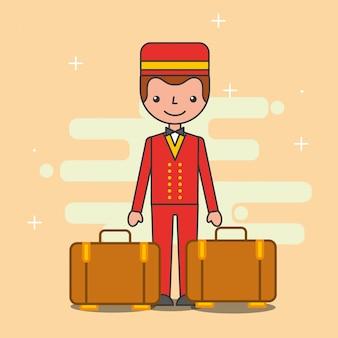 Menschen hotel service
