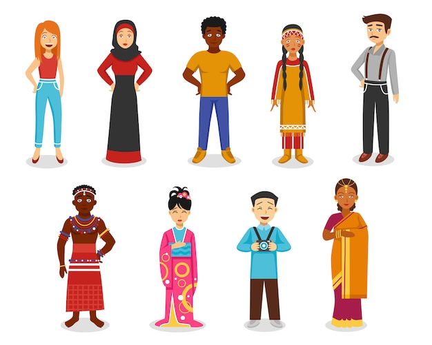 Menschen icons set