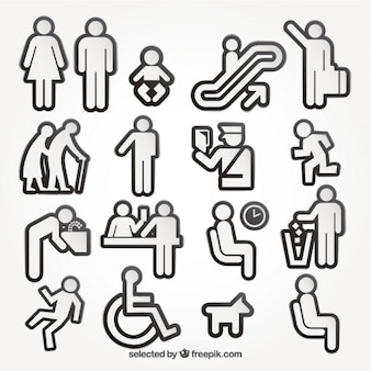 Menschen-Ikonen-Sammlung