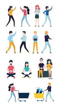 Menschen im zusammenhang mit online