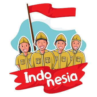 Menschen in indonesien