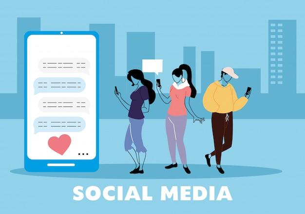 Menschen in virtuellen treffen mit freunden