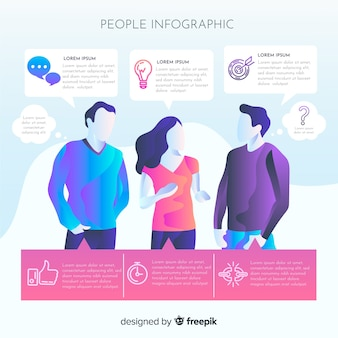 Menschen infografik