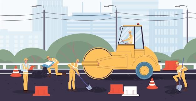 Menschen ingenieur arbeiter im overall gebäude