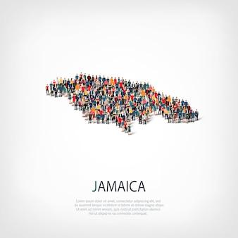 Menschen karte land jamaika