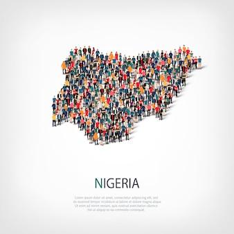 Menschen karte land nigeria