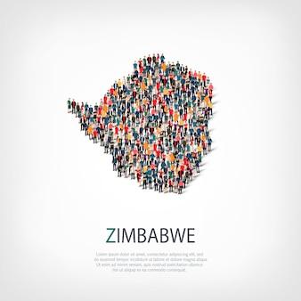 Menschen karte land simbabwe