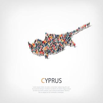 Menschen karte land zypern