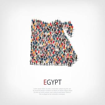 Menschen kartieren land ägypten
