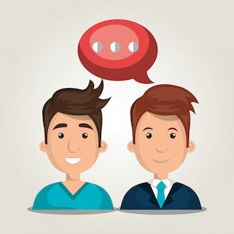 Menschen kommunizieren