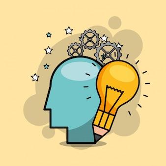 Menschen kreativer prozess