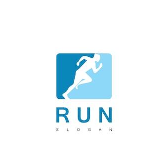 Menschen laufen logo sport