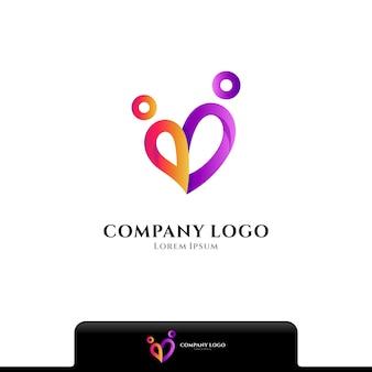 Menschen lieben logo-vektor-vorlage