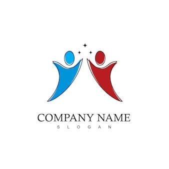 Menschen logo-design-vorlage