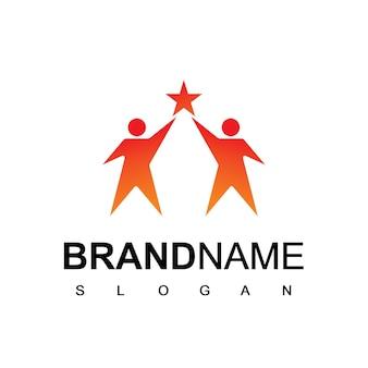 Menschen logo vorlage gesellschaft und teamwork symbol