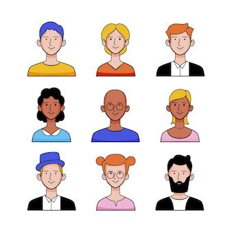 Menschen mit ihrer einzigartigen kleidungsauswahl