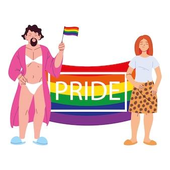 Menschen mit lgbtq-stolz, gleichheit und schwulenrechten