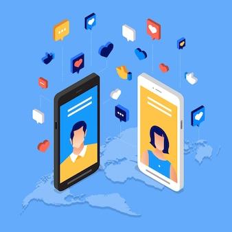 Menschen mit modernster technologie verbinden.