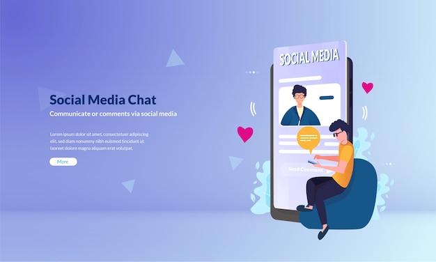 Menschen nutzen social media-anwendungen als modernes kommunikationskonzept