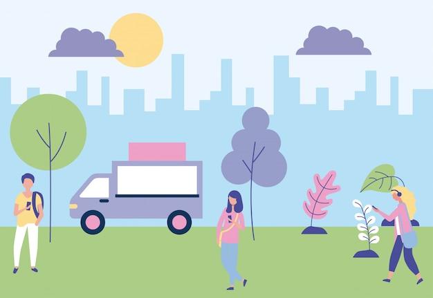 Menschen outdoor-aktivitäten
