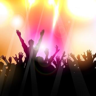 Menschen party silhouette