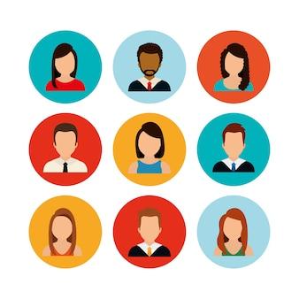 Menschen profil grafik