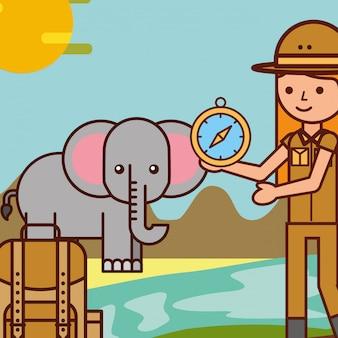 Menschen safari reisen