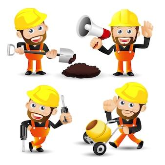 Menschen setzen beruf arbeiter