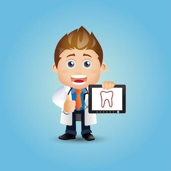 Menschen setzen beruf zahnarzt