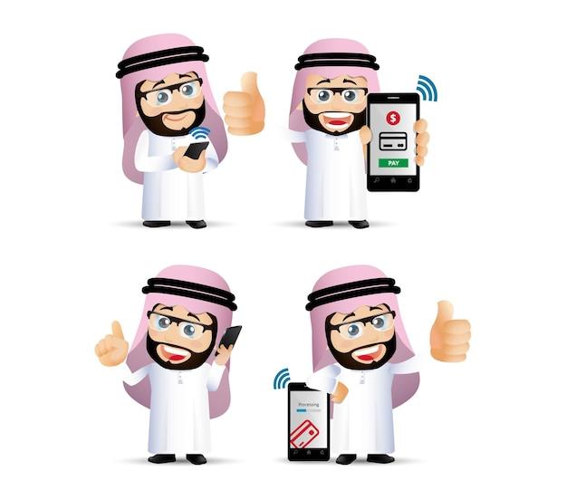 Menschen setzen mobile zahlungen illustration